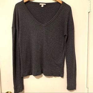 Standard James Perse V-Neck Long Sleeve Top - 2